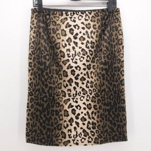 INC Animal Print Ombre Velvet Pencil Skirt Leopard